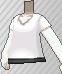 Camiseta cuello de pico blanca