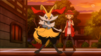 EP868 Braixen recién evolucionado