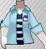 Camiseta vistosa azul claro