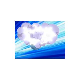 Una nube de humo sale de la Poké Ball...
