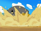 EP534 Hippowdon sumergiéndose en la arena