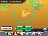 Pikachu encontrado en el DexNav