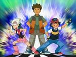 EP525 Ash, Brock y Maya imitando al Team Rocket