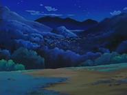 EP525 Vistas a la aldea de noche