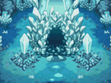 Entrada a la cueva de cristal
