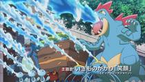 P16 Pokémon apagando un fuego