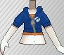 Cazadora con capucha azul