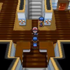 Primer lugar donde entras, con las escaleras al mirador.