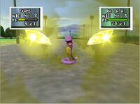 Ekans usando malicioso en Pokémon Stadium 2 N64