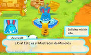 Azumarill y el tablón de misiones MM3