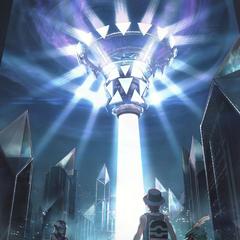 Poster de Ultrópolis, el mundo al que Necrozma ha arrebatado la luz.