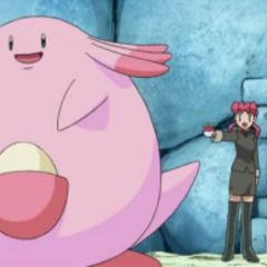 Chansey junto a Joy.