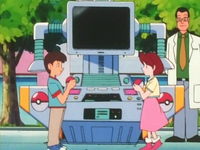 EP148 Niños intercambiando Pokémon