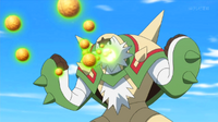 EP911 Chesnaught usando bomba germen