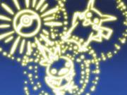 EP309 Fuegos artificiales Torchic y Pikachu
