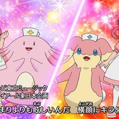 Ambas Joy con sus Pokémon.