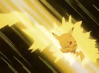 EP130 Pikachu usando Rayo
