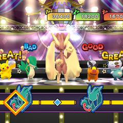 Minijuego Baile Fabuloso en multijugador.