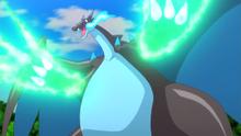SME01 Mega Charizard X usando garra dragón