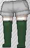Calcetines largos verde