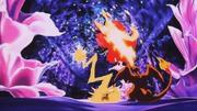 P03 Pikachu y Charizard de Ash