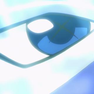 Detalle del ojo de Xerneas donde se aprecia la X que tiene.
