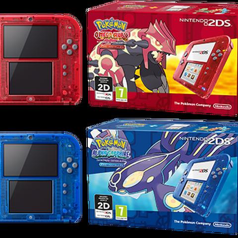 Nintendo 2DS roja/azul transparentes ROZA