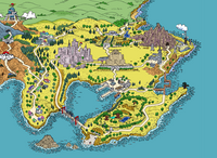 Mapa de Kanto en la segunda generación