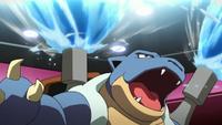 PO04 Blastoise usando hidrobomba