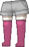 Calcetines largos rosa