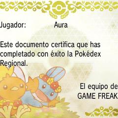 Diploma de Pokédex regional en <a href=