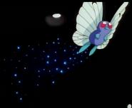 EP007 Butterfree de Ash usando somnífero