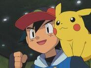 EP292 Ash junto a Pikachu