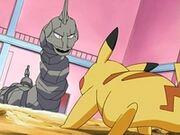EP487 Onix de Roark VS Pikachu de Ash