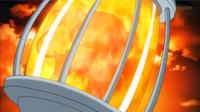 EP900 Pyroar usando sofoco