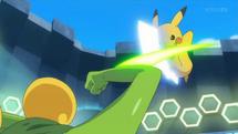 EP931 Pikachu VS Sceptile