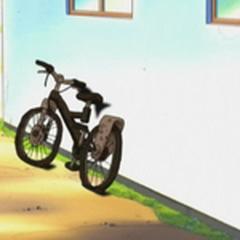 Bici de May/Aura chamuscada.