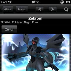Viendo la animación de Zekrom