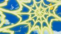 EP1085 Pikachu usando Electrotela