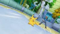 EP810 Pikachu con el campo cubierto de hielo