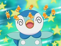 EP488 Piplup confuso por beso dulce