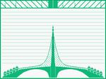 Carta puente V grande