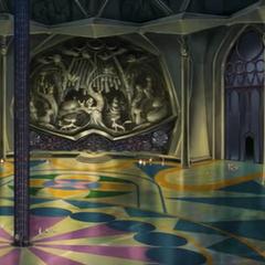 Sala principal en el interior de las torres.