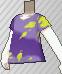 Camiseta desteñida morada