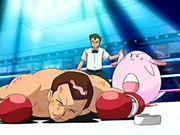 EP463 Chansey venciendo a Giovanni