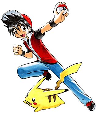 """Rojo y su <a href=""""/wiki/Pikachu_de_Rojo"""" title=""""Pikachu de Rojo"""" class=""""mw-redirect"""">Pikachu</a>"""