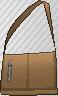 Bandolera con cremallera marrón