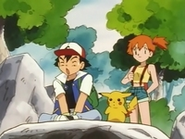 EP005 Ash, Pikachu y Misty