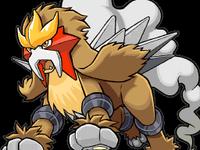 Entei en Pokémon Ranger- Trazos de Luz