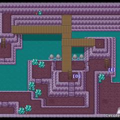 Planta baja de la Cueva Celeste en Oro HeartGold y Plata SoulSilver.